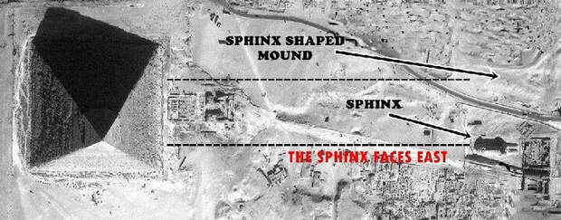 Потерянный сфинкс в Гизе - эксперты утверждают, что рядом с пирамидами был второй сфинкс.