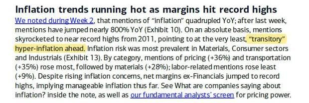 """Bank Of America: Впереди нас ожидает """"временная"""" гиперинфляция доллара"""