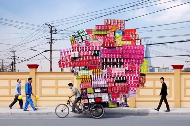 Шанхай авто, автомобили, автоприкол, груз, подборка, прикол, фото, юмор