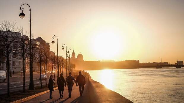 В Санкт-Петербурге сохранится теплая погода без осадков в четверг 13 мая