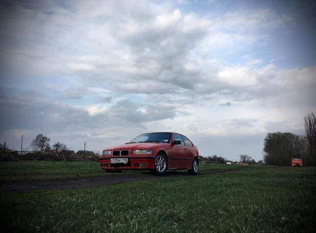 Девушка и BMW e36 compact - начало