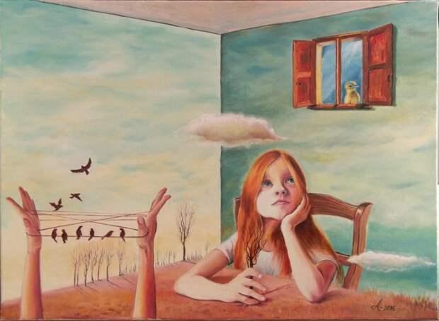 Румынский художник. Adina Lupan