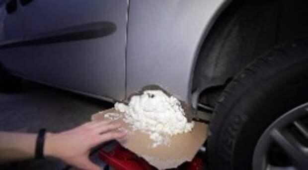 Как перекупщики быстро заделывают сквозные дырки в кузове