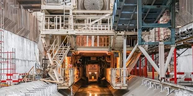 Комплекс «Виктория» проложил участок тоннеля под станцией «Печатники»