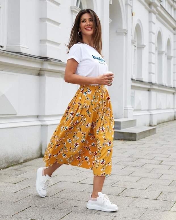 С чем носить юбку летом фото 11