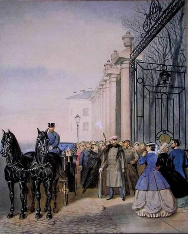 Первое покушение на Александра II. Выстрел Дмитрия Каракозова. Файл: покушения-каракозов.