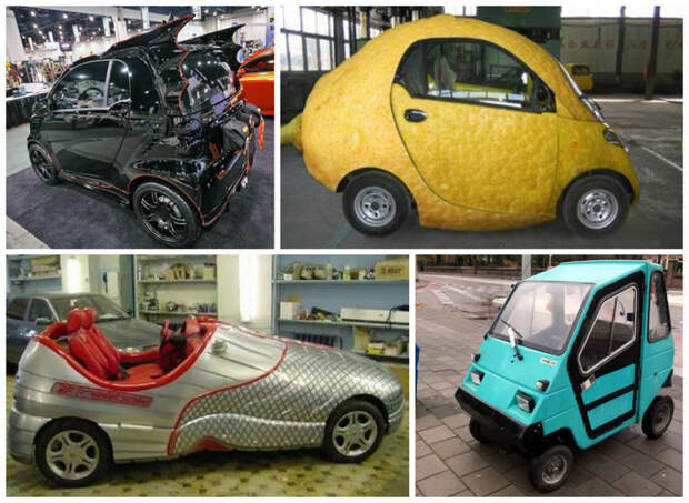Еще маленькое, но симпатичное интересное, машины, странные