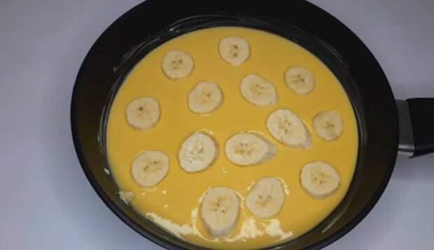 Сладкий пирог с 1 яйцом на сковороде. Удачный рецепт на скорую руку