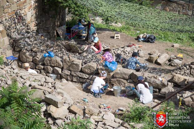 На территории Судакской крепости работает выездная школа археологии