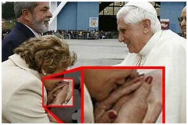 И даже когда целуешь руки папа Римскому всячина, интересное, осторожность, подборка