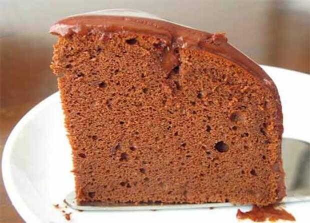 быстрый шоколадный бисквит в микроволновке