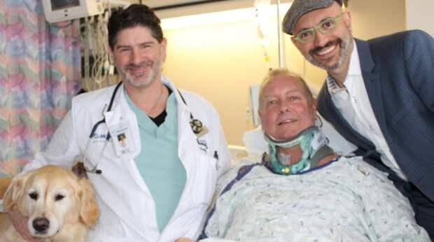 В новоднюю ночь собака спасла жизнь парализованному хозяину, пролежав на нём 20 часов