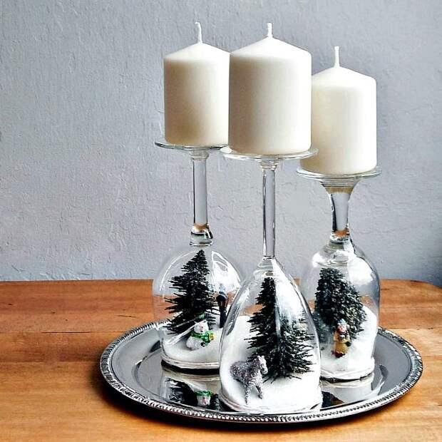 Сервировочные свечи в Новый год