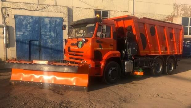 Новая уборочная машина поступила в автопарк Подольского комбината благоустройства