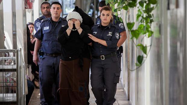 Ольга Горелик в здании суда. Фото: Охад Цвайгенберг