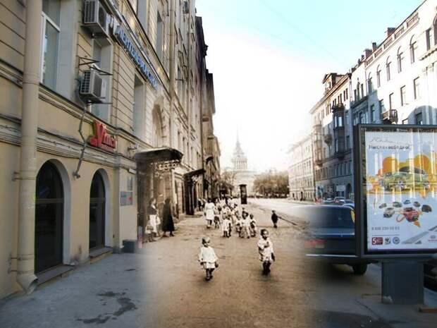 Ленинград 1944-2009 Гороховая улица. Дети на прогулке блокада, ленинград, победа