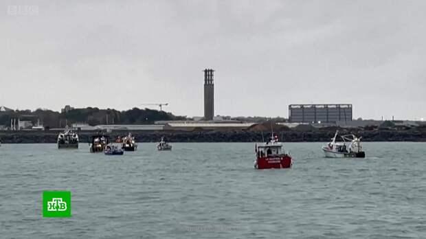 Французские и британские рыбаки в Ла-Манше устроили морской бой