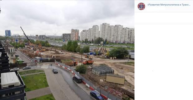 Фото дня: этап строительства станции «Физтех»