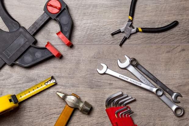 Инструмент, Ремонт, Работа, Металл, Рулетка, Ключ