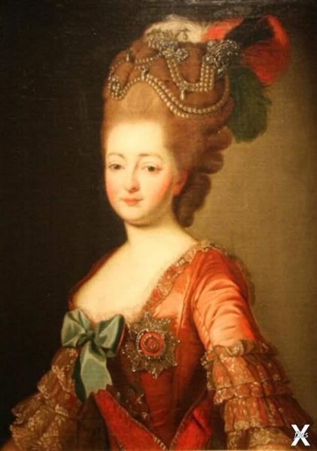 Екатерина II в молодости...
