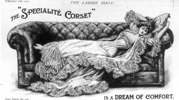 Ношение корсета в свое время считалось среди модной элиты обязательным - и не только для того, чтобы подчеркивать стройность фигуры