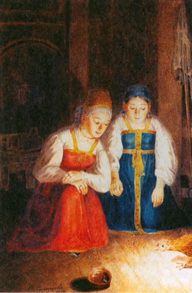 Как гадали на картинах русских художников