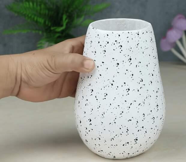 Очень красивая ваза из ничего
