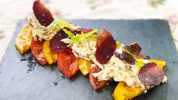 Оригинальная ЗАКУСКА — помидоры с сыром и сырокопченой колбасой