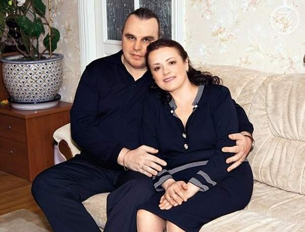 Елена Цыплакова с мужем Павлом