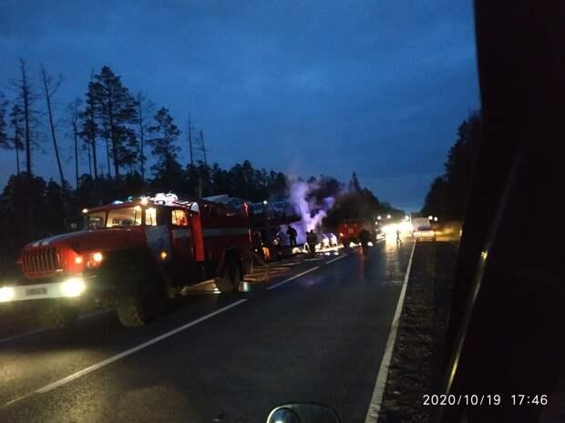 Возгорание автовоза в Удмуртии, ограничения в работе общепита Санкт-Петербурга и режим наивысшей эпидопасности в Ирландии: что произошло минувшей ночью