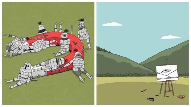 Забавные минималистичные картинки от Стива Нельсона
