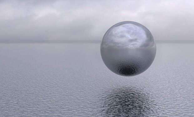Американские военные показали видео со сферическим объектом, который летел над морем, а потом ушел под воду