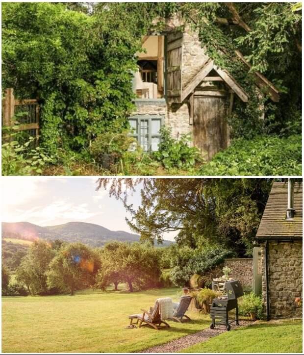 Лесная хижина, построенная еще в XV в., превратилась в популярное место отдыха («Wishbone Cottage», Великобритания).   Фото: uniquehomestays.com.