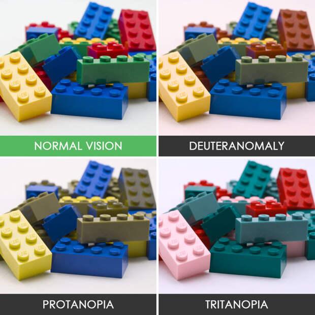 43. Лего дальтонизм, люди, мир