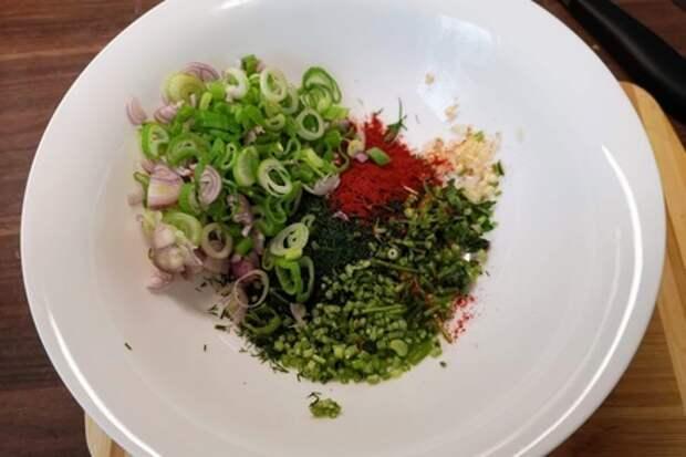 Хоровац — салат из запеченных овощей: фото шаг 3