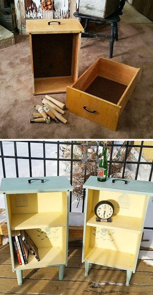 15 творческих идей, как преобразить старую мебель до неузнаваемости