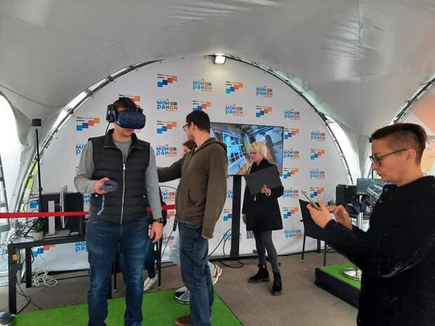 Фото дня: жители Бабушкинского оценили благоустройство сквера в виртуальном пространстве