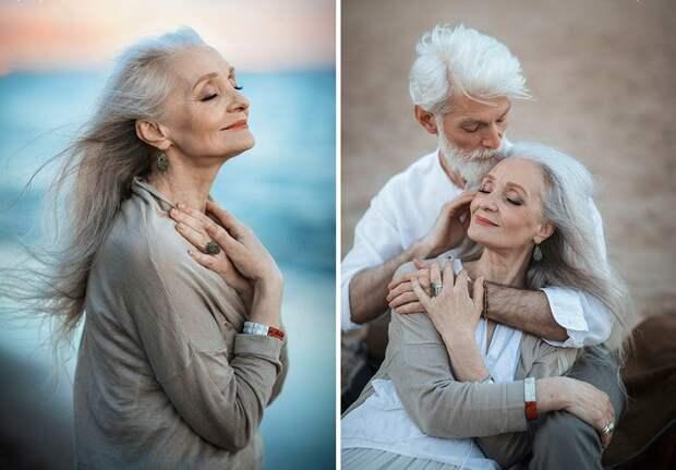 пожилая влюбленная пара из России