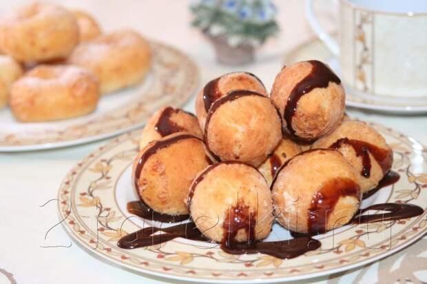 Творожные шарики и пончики