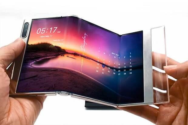 Samsung показала складывающийся втрое дисплей S-Foldable и раздвижной экран, как у LG Rollable