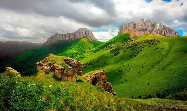 Территория Республики Адыгея, как образца ландшафта Северо- Западного Кавказа