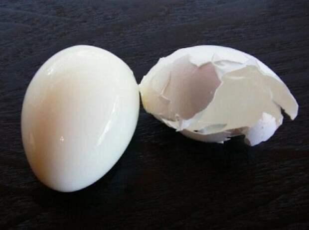 Остывшие яйца очищаются за несколько секунд / Фото: goldenpolus.ru
