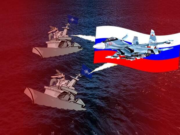 НАТО проводит крупнейшие военно-морские маневры у границ Росси. Россия ответила условным уничтожением флота противника