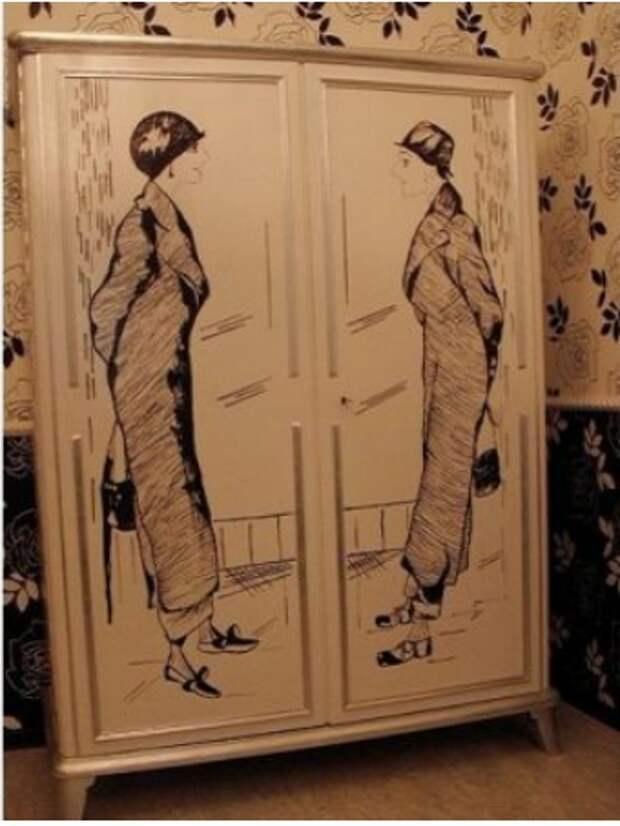 Винтажный шкаф - в антикварный (DIY)