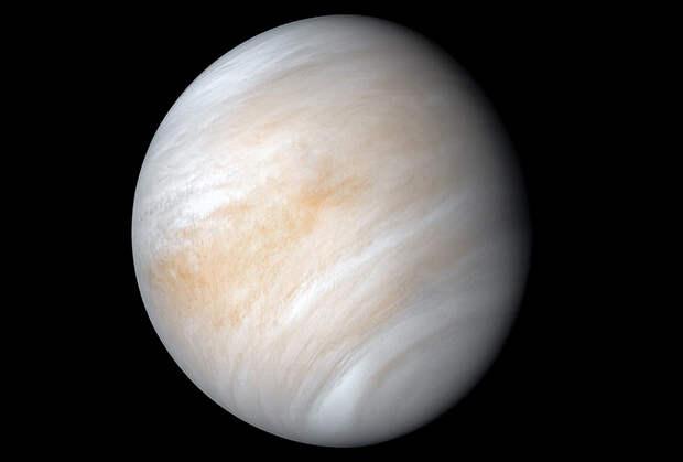 PIA23791: Contrast-enhanced false color view of Venus from Mariner 10