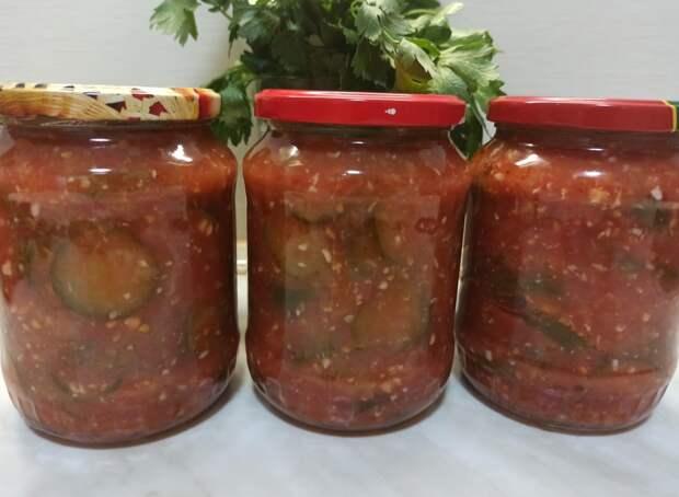 ОБАЛДЕННЫЙ САЛАТ НА ЗИМУ /Салат из огурцов в томатном соусе без стерилизации