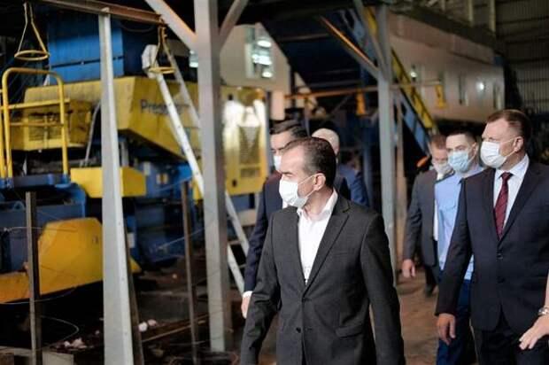 Губернатор Кубани проверил работу полигона ТКО в Белореченске