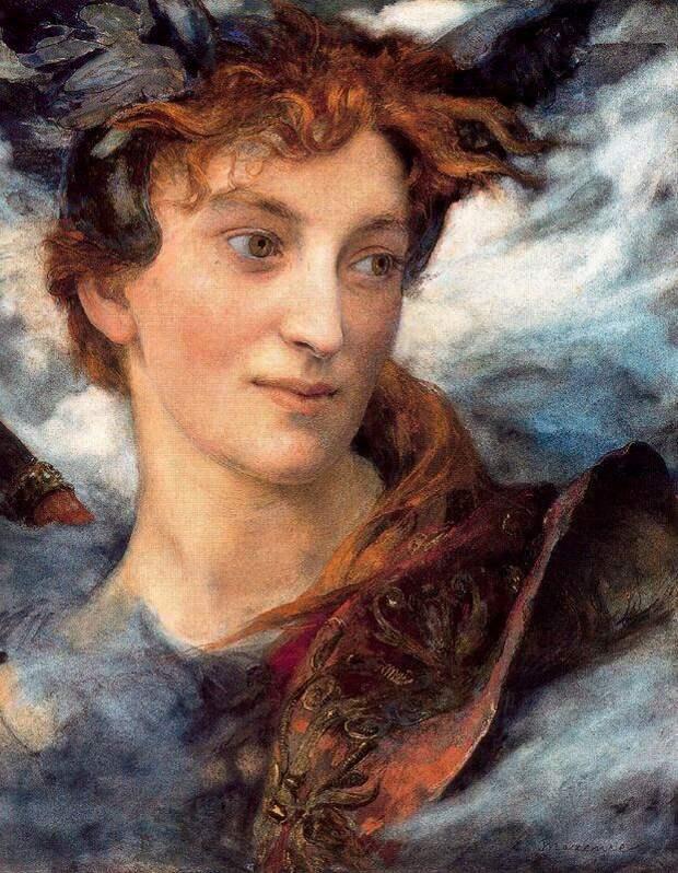 """Женщина - тайна небес..."" Французский художник Edgar Maxence (1871 - 1954)"
