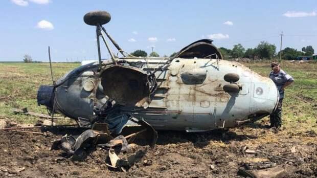 В Краснодарском крае упал вертолет