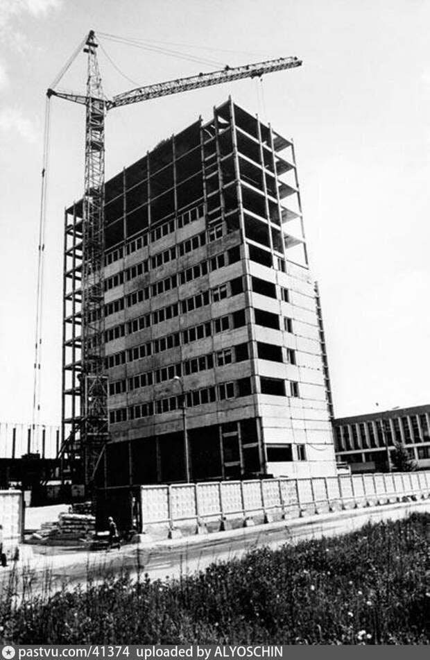 """Строительство """"лежачего небоскрёба"""", 1975-1980."""